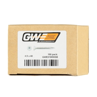 GWE® Vis blanches (pack de 100)